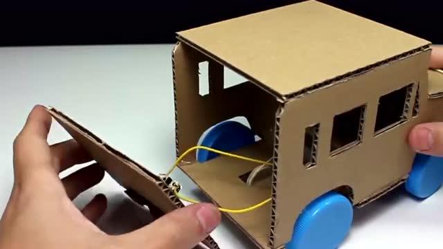 创意无限硬纸皮木片手工diy制作玩具车图片