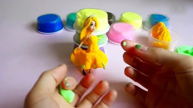橡皮泥超轻粘土手工制作 美人鱼的新裙子迪斯尼公主芭比娃娃diy