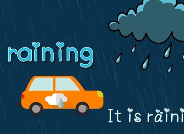 幼儿英语启蒙之小汽车系列 学习4种天气单词图片