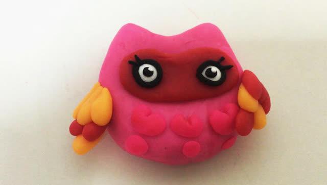 玩具视频 橡皮泥手工制作魔力鸟 亲子游戏