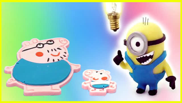 趣味玩具 创意彩泥小猪佩奇父子情深!亲子互动-早教启蒙