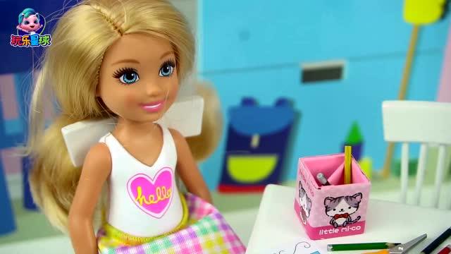 芭比手工制作黄油蛋糕 儿童过家家
