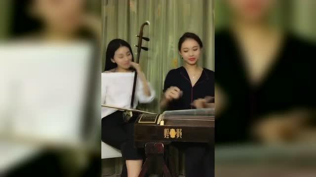 古筝,二胡演奏《鸿雁》鸿雁北归还,带上我的思念