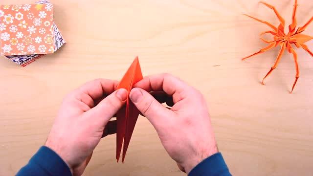 创意diy折纸 折一只蜘蛛 手工制作一只小蜘蛛纸艺作品