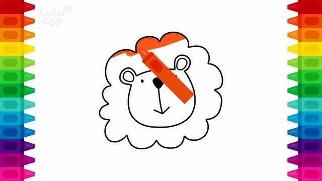 早教益智动画 一起学习画画小动物 并给小动物着色