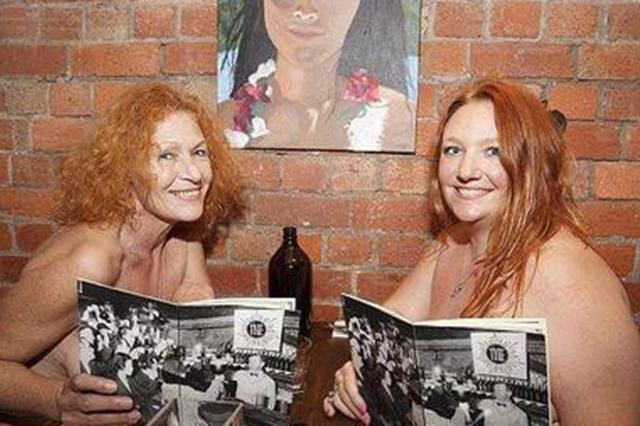 非利兵裸体结婚_澳洲裸体餐厅开业 民众兴趣高涨排队体验