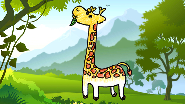 少儿简笔画基础大全:长颈鹿