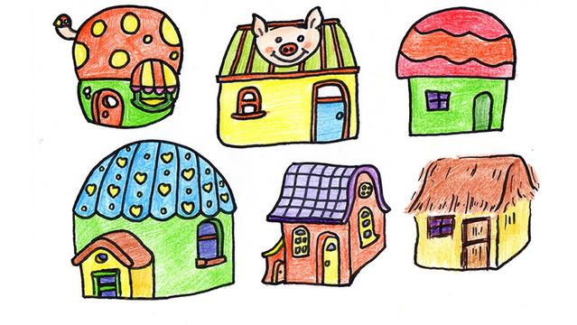 各种漂亮的小房子的简笔画!收藏起来,以后肯定用得到