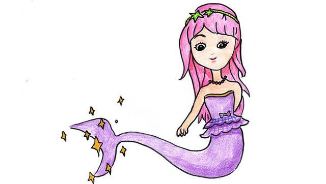 少儿简笔画:美人鱼