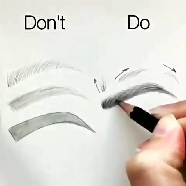 小白手绘教程 如何画出更完美的眉毛 拿走不谢咯!