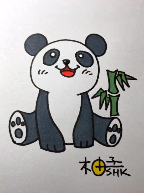 简笔画之小熊猫图片