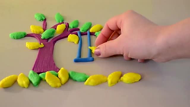 迪士尼玩具 橡皮泥做树秋千