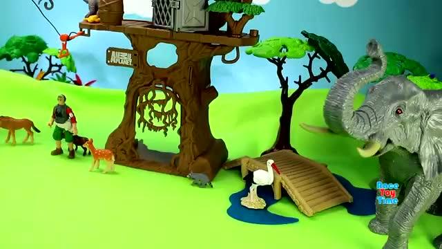 国外儿童玩具:动物星球树屋玩具