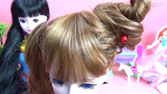 """陈思思""""丸子头""""》齐娜仙子 叶罗丽娃娃玩具 叶罗丽仙子 发型教程"""