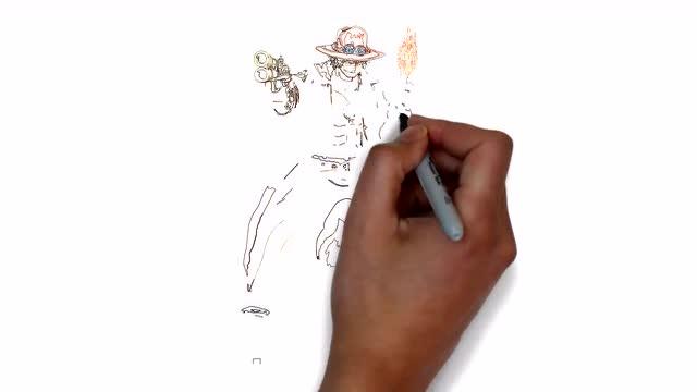 海贼王动漫人物 火拳艾斯 手绘视频