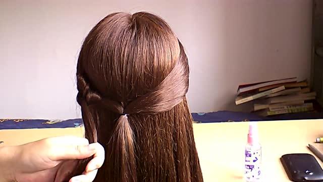 简单实用的半披肩发,简单编发简单装束