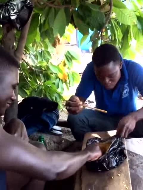 教非洲人用筷子吃饭,他们还是觉得用手更方便!图片