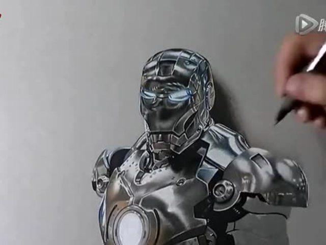 素描笔画出来的钢铁侠!你见过吗?
