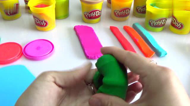 培乐多橡皮泥彩泥粘土手工制作彩虹糖果冰淇淋diy