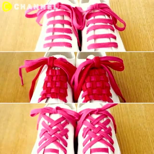 花样鞋带鞋带系法