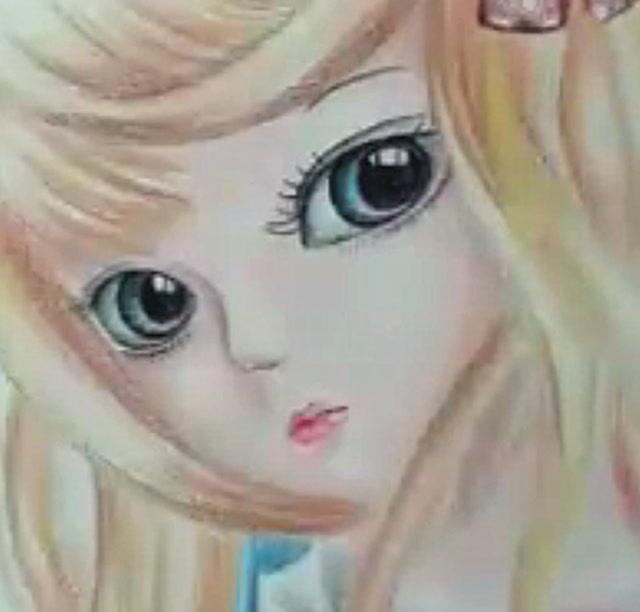 人气彩铅手绘sd娃娃