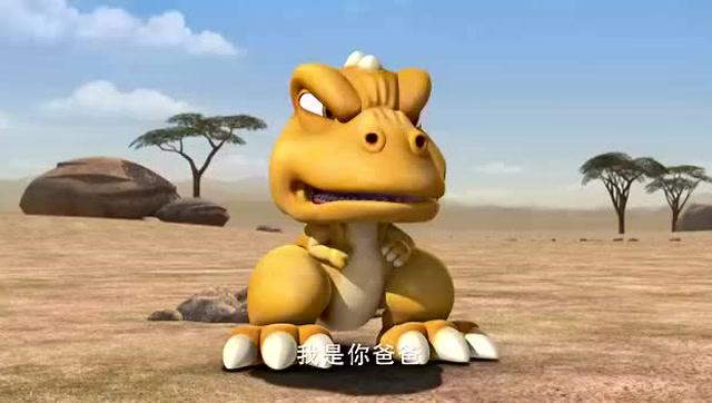 小恐龙阿贡:阿贡有妈妈了,还给它扇风哄它睡觉图片
