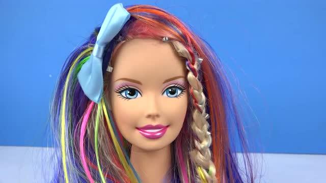 娃娃的编头发步骤照片