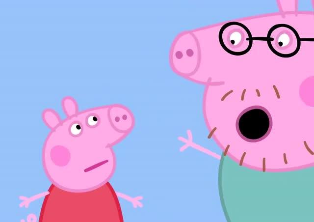 小猪佩奇:猪爸爸教佩奇怎样吹口哨