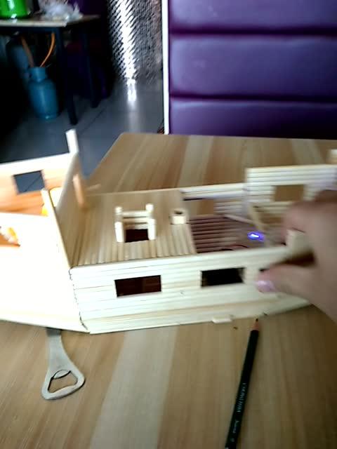 一次性筷子制作轮船,有创意的想法,太厉害了