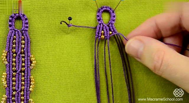 编绳教程-编绳手链流苏花边珠子手链 手链
