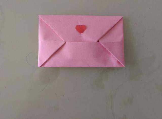 信封折纸教程:这种信封的折法既简单又好看,留着教孩子!