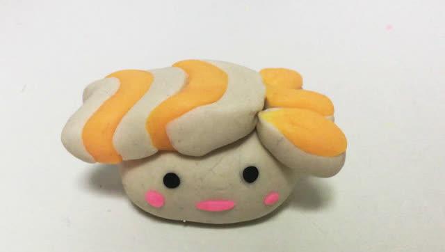 玩具视频 橡皮泥手工制作虾尾寿司 亲子游戏