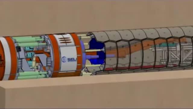 盾构机动画演示它的工作原理