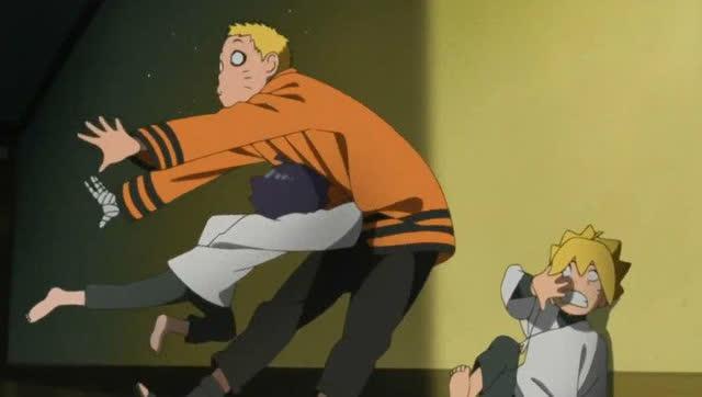 《火影忍者》漩涡向日葵一拳不仅打倒了鸣人,还重击了
