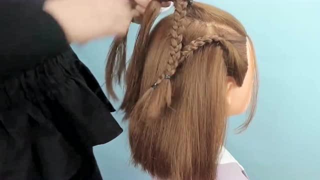 短发古装儿童编发教程, 时尚可爱俏皮小公主造型