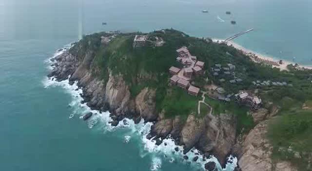 中国最美的海岛景区,海南分界洲岛高清航拍
