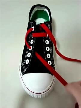 """花式鞋带系法教学,""""女""""字系法"""