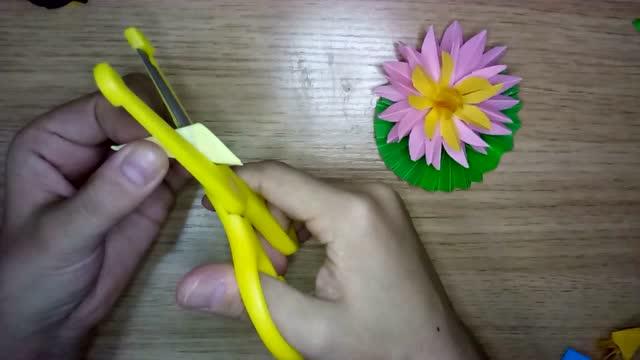手工系列教程 折纸 荷花折法