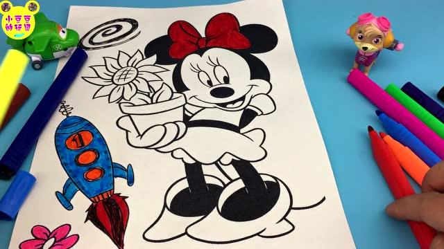 超级飞侠画画米奇妙妙屋水彩画涂色玩具
