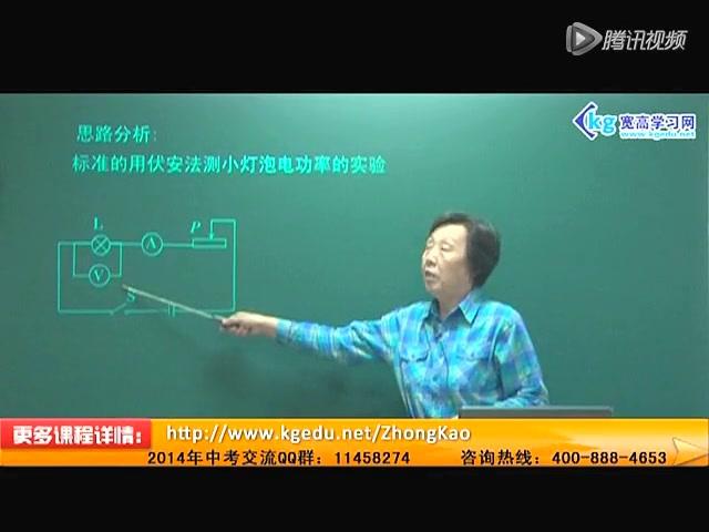 2014中考物理:测电功率