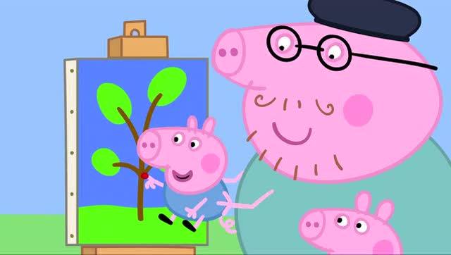 小猪佩奇 第二季29 画画 painting 佩佩猪