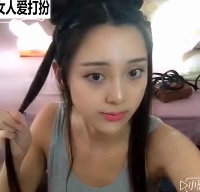 汉服发型教程 古代汉式少女发型
