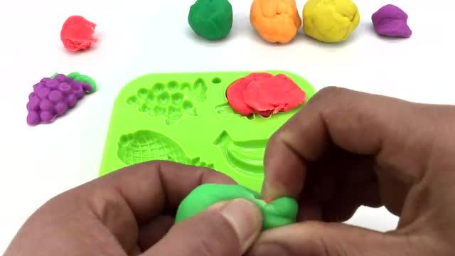 培乐多彩泥橡皮泥手工制作蔬菜水果