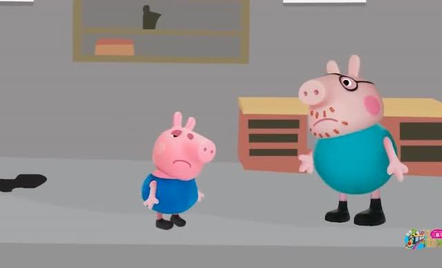 小猪佩奇:猪爸爸给乔治做了一个小车