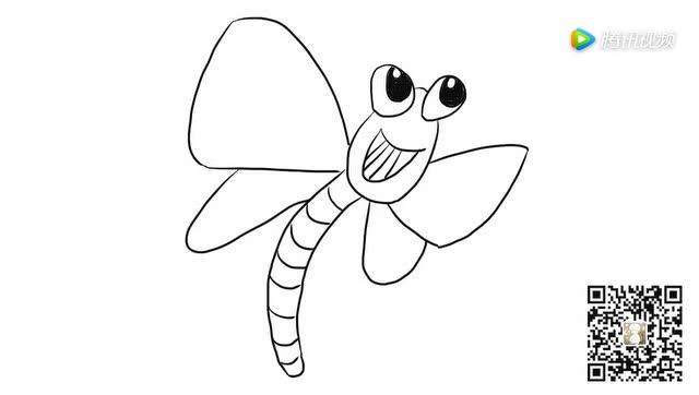 调皮的小蜻蜓儿童亲子简笔画 宝宝轻松学画画