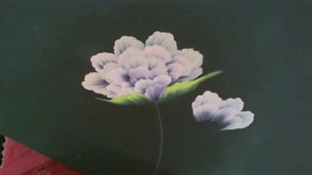 牡丹花排笔步骤图