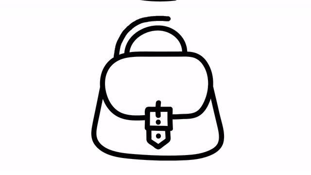 儿童学画画:画手提包