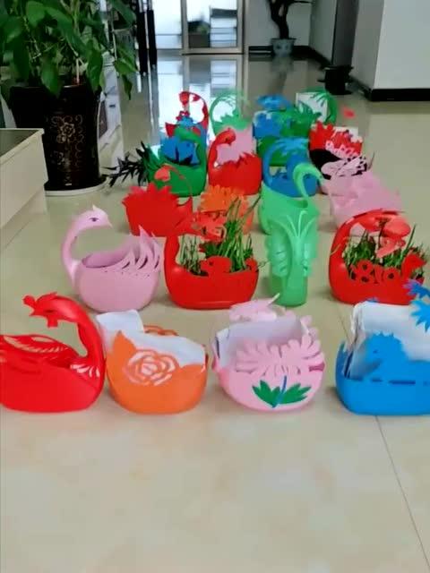 洗衣液塑料桶别扔掉,自己动手可以做出漂亮的花盆