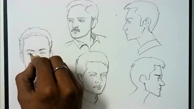 手绘爱好者: 脸部绘画