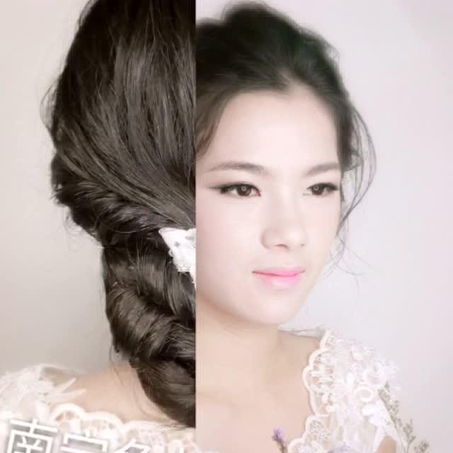 空气感新娘造型 新娘发型
